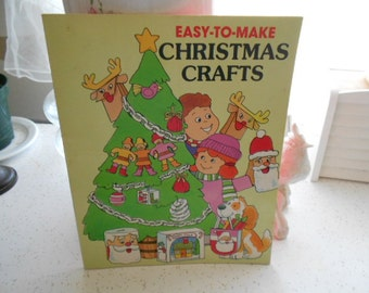 1986 Easy To Make Christmas Crafts Trolls Associates Kids SC Book