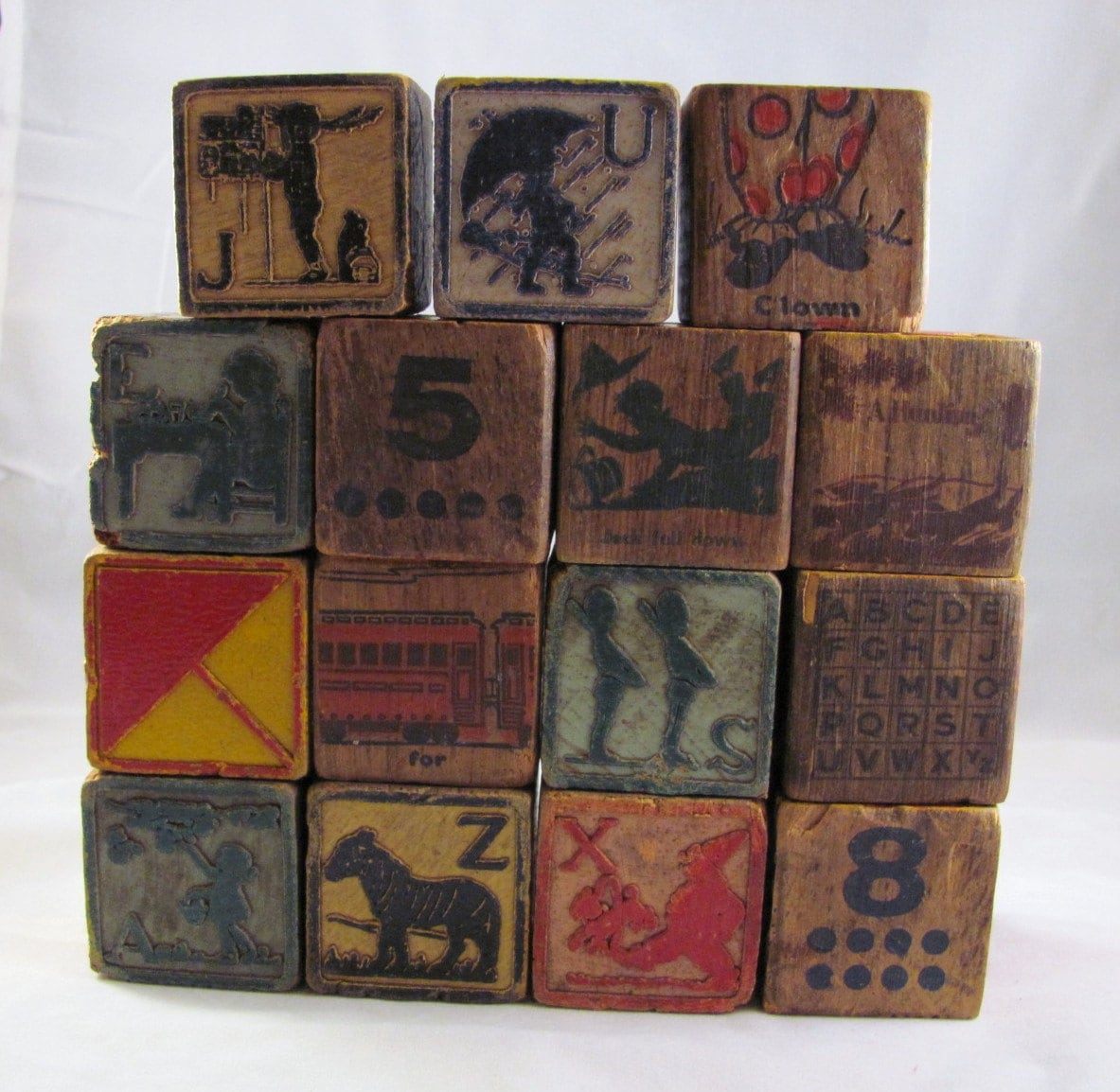 wooden building blocks vintage with pictures numbers letters With wooden letter building blocks