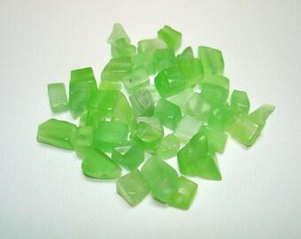 Mint Green Cats Eye Glass Chip Beads (Qty 40) - B1803