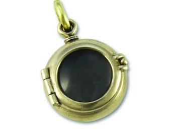 locket steampunk locket LARGE PORTHOLE locket solid brass