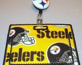 Horizontal ID Badge Holder Steelers