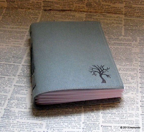 life's journey blank tri fold journal by BlueToad Journals of Tremundo