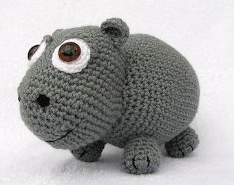 CROCHET PDF PATTERN Pudgy Little Hippo