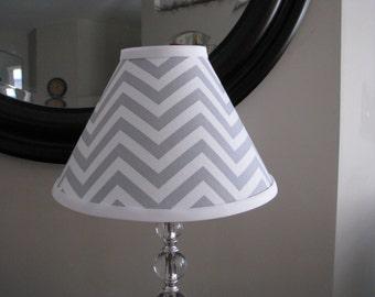 Lamp shade Grey Chevron