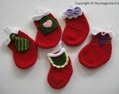 Crochet Pattern - FAMILY CHRISTMAS SOCKS - deco - pdf (00467)