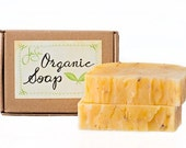 Lavender Rose Natural Organic Soap with Shea Butter, Essential Oils,  4.5 oz, 128 grams - JenSanHomeAndBody