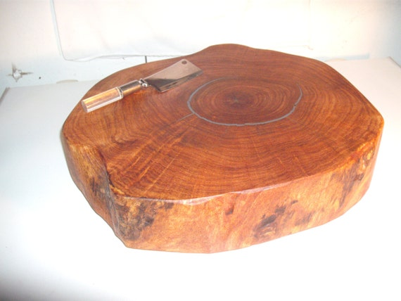 Mesquite Log End Slice Cutting Board Wedding Cake Stand
