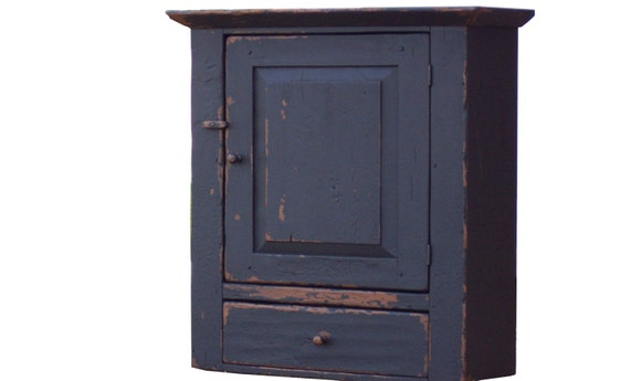 Primitive farmhouse wall cabinet cupboard furniture painted