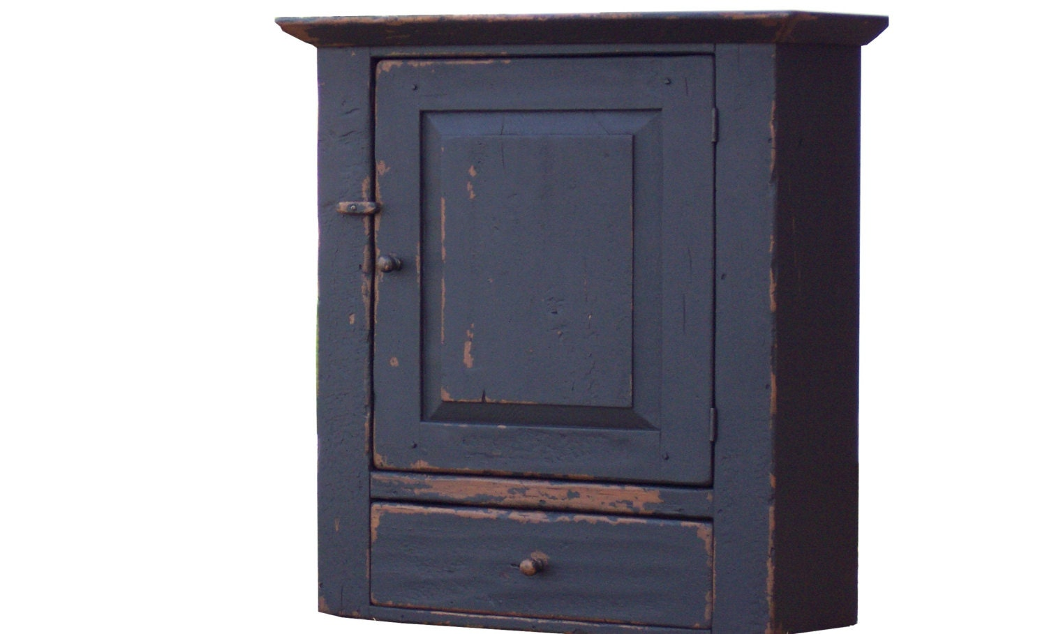 Primitive farmhouse wall cabinet cupboard by JosephSpinaleFurn