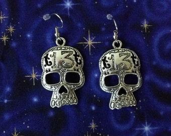 13 Skull Earrings