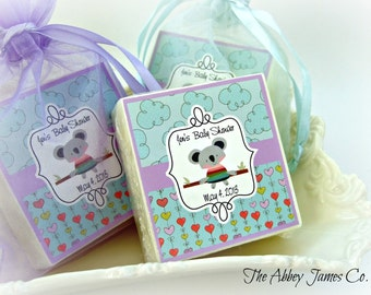 Baby Boy shower Favors, Koala bear, baby shower favors, set of 10