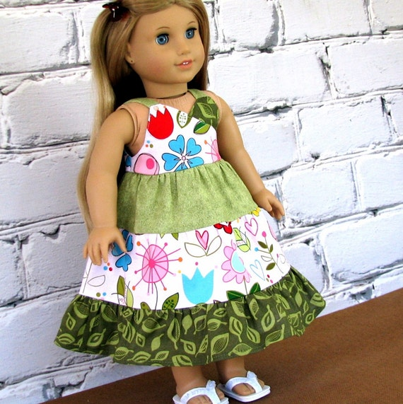 Sunny Happy Skies - American Girl Doll Clothes Summer Sundress
