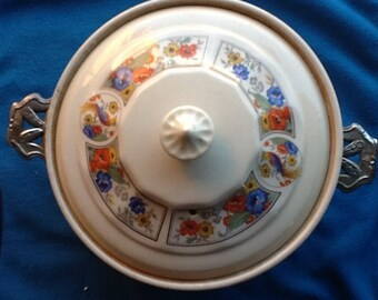 Forman Brothers by Hall China Company Casserole Dish with Metal Holder