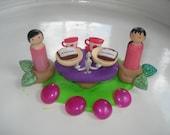 Fairy tea party play doh playset