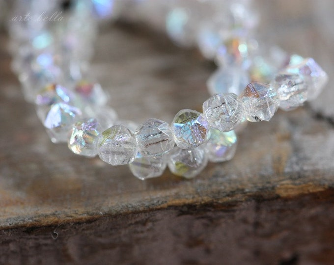 FAIRY SPARX .. 50 Picasso Czech Faceted Beads 3mm (3287-st)