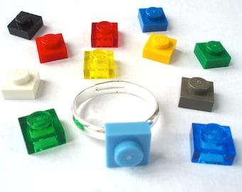 Stud Ring, bague de fiançailles, bague de mariage - à la main avec des briques LEGO(r)
