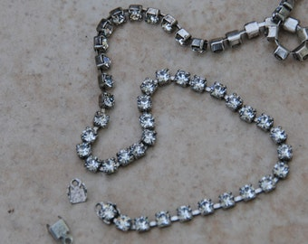 Sterling Silver Plated Rhinestone Chain