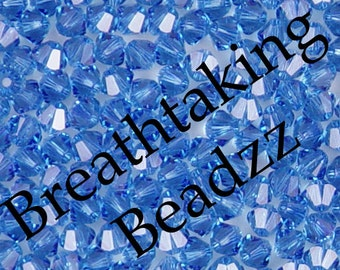 Swarovski Beads Crystal Bead 24 Sapphire 6mm Bicone 5328 Many Colors In Stock
