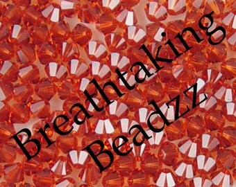CLEARANCE Swarovski Crystal Beads 24 6mm Indian Red Bicone 5328 Many Colors In Stock,os