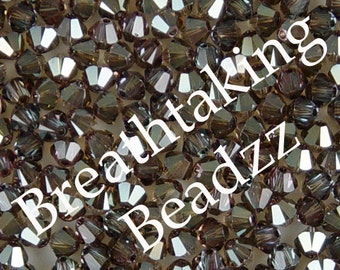 CLEARANCE Swarovski Crystal Beads 24 6mm Crystal Bronze Shade Bicone 5328 Many Colors In Stock, os
