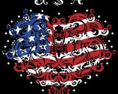 New Americana Patriotic USA  4th of July Women's Tee Shirt Sizes Small thru 3XL Plus Sizes Too