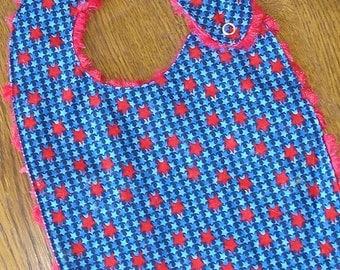 Fourth of July Blue and Red Stars Bib Baby/Toddler Bib