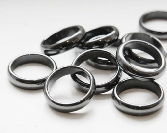 10 pcs of Semi-Precious Hematite Ring - 24mm O.D.x 18.5mm I.D. (32201)