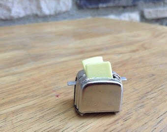 miniature metal toaster