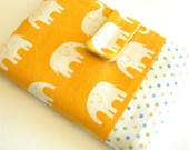 Happy elephant (orange) - passport cover