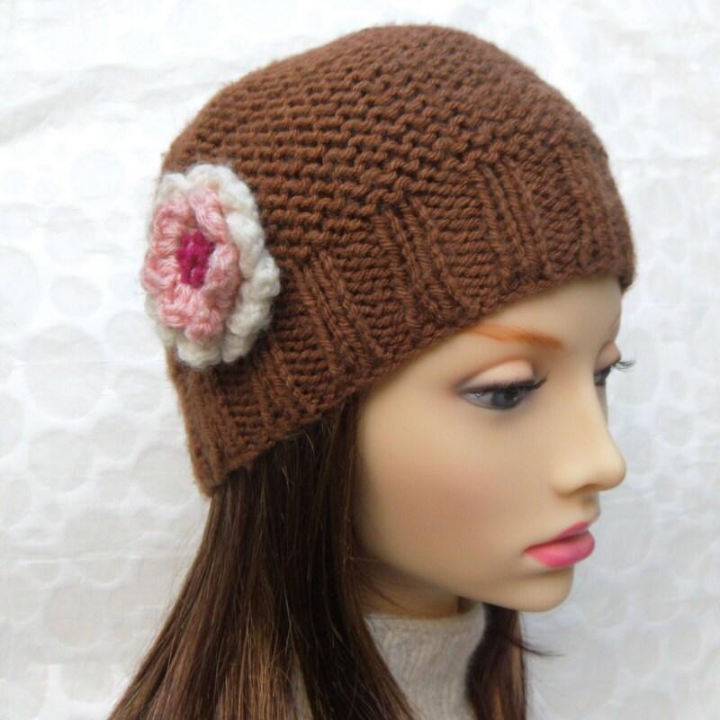 KNITTING PATTERN/ BELLE/ Beanie Style Hat for Women Knit