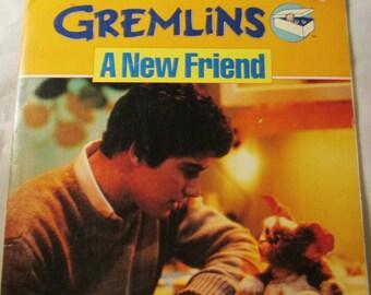 Vintage 1984 Gremlins Colored Storybook   A New Friend