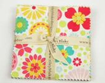 "Clearance CHARM PACK fabric 5"" Stacker  So Happy Together by Riley Blake"