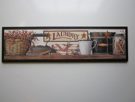 Laundry Room Wall Decor Sign Rustic Country Lodge Style
