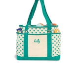 SALE - Personalized Bag Tote - Polka Dot