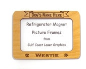 Westie Dog Magnet Picture Frame