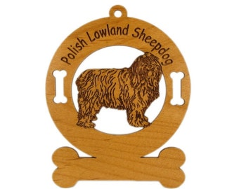 3725 Polish Lowland Sheepdog Personalized Dog Ornament