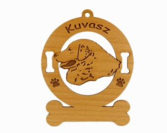 3469 Kuvasz Head Personalized Wood Ornament
