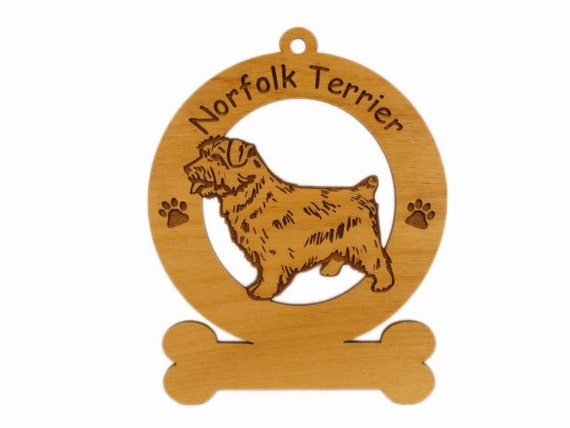 3605 Norfolk Terrier Standing Personalized Dog Ornament