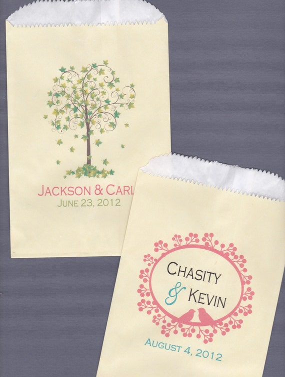 Items Similar To Wedding Candy Bar Candy Buffet Favor Bags Cookie Bar Treat Bags