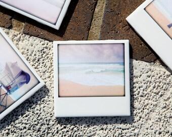 Beach Coasters Drink Coaster Ceramic Set of 4  - Original Photography by Jennifer Jackson,