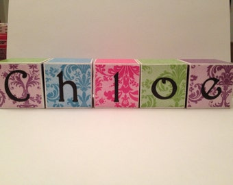 Personalized Wooden Blocks- 2x2 Cube-Set of 5