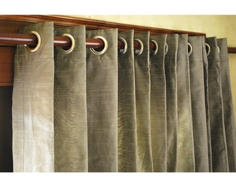Yellow And Grey Curtain Panels 52x96 Grommet