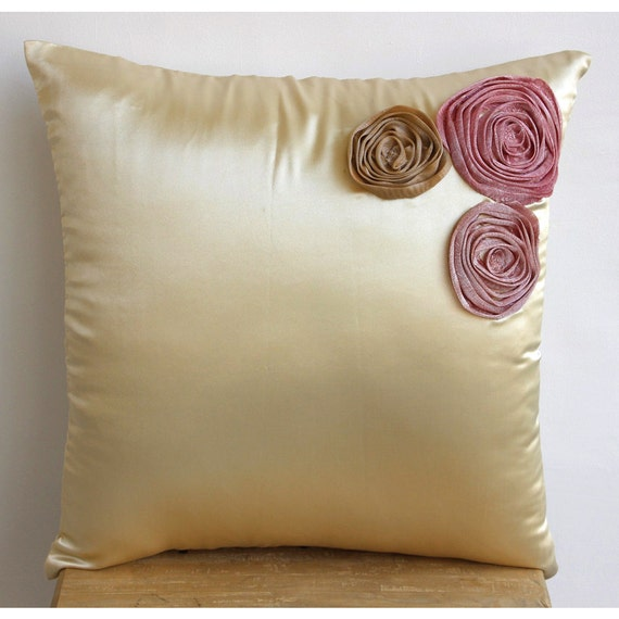 Throw Pillow Covers Accent Pillows Couch 16 Inch Satin Pillow Cover