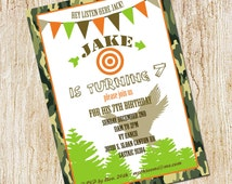 Duck Dynasty Invitation - Duck Hunting Party invitation - Birthday Invitation- Printable Digital File or Printed Invitations - Outdoor Party