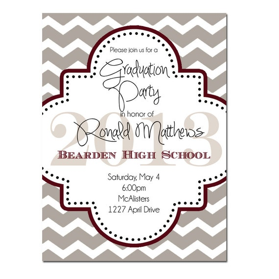 Graduation Reception Invitation Wording with adorable invitations layout