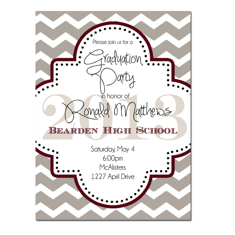 Graduation party invitation digital file or printed – Graduation Dinner Invitations