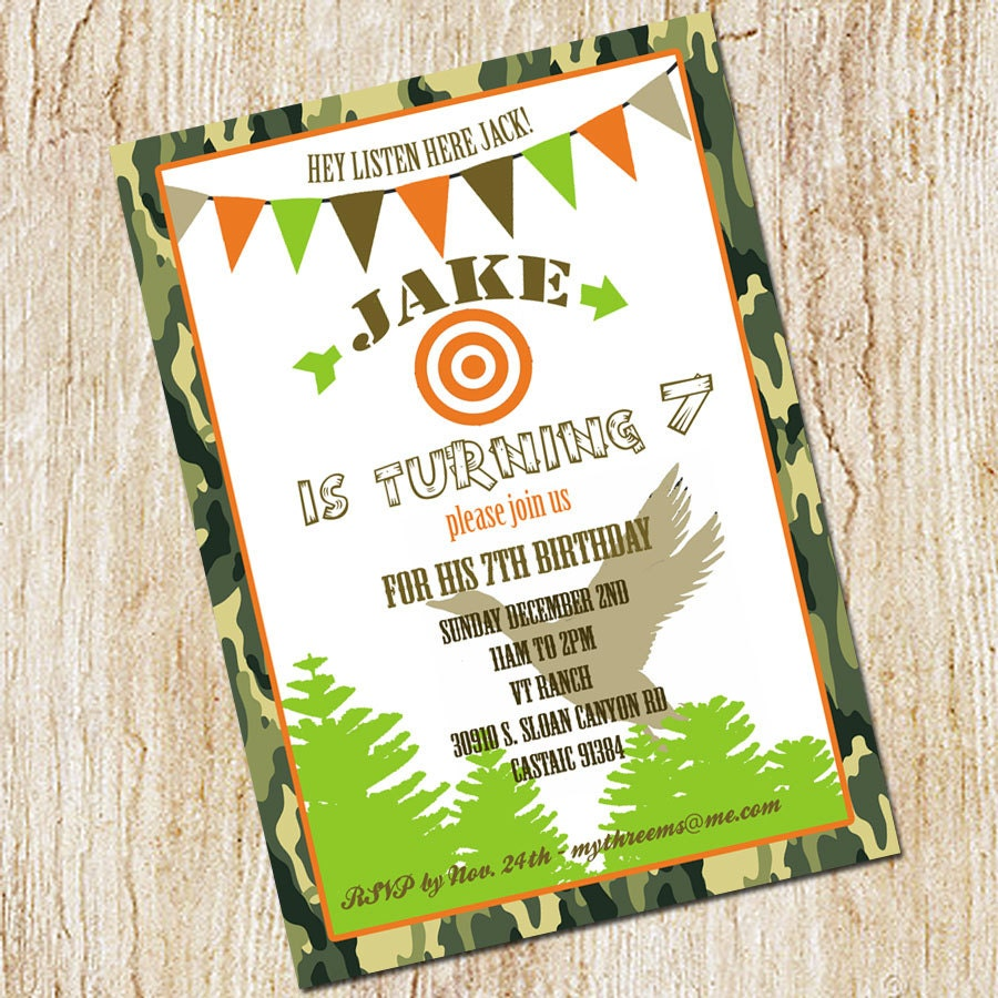 Duck Dynasty Invitation Duck Hunting Party invitation