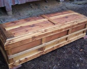 Free Shipping - Reclaimed Knotty Pine Custom Casket