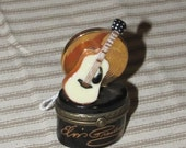 ELVIS Guitar PHB collection Hinged Trinket Box with guitar pick inside