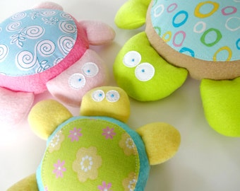 Baby Turtle Softies Toy Sewing Pattern - PDF ePATTERN